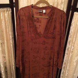 Dresses & Skirts - Chico's Brown Lightweight Summer Dress